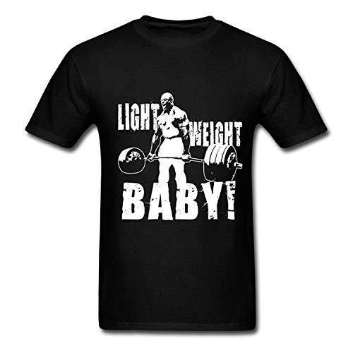 Ashirt Hombre Ronnie Coleman Deadlift Camisetas de Manga Corta BlackLarge