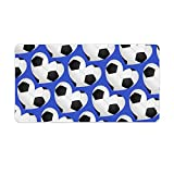 Extended Gaming Mouse Pad with Stitched Edges Waterproof Large Keyboard Mat Non-Slip Rubber Base I Love Soccer Lots Of Soccer Balls Desk Pad for Gamer Office Home 16x10 Inch