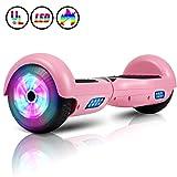 Huanhui Balance Board 6,5' Gyropode Smart Skateboard Électrique, LED Auto-équilibrage, Smart Scooter Overboard Sécurisé UL, pour Enfants und Adultes, Rouge