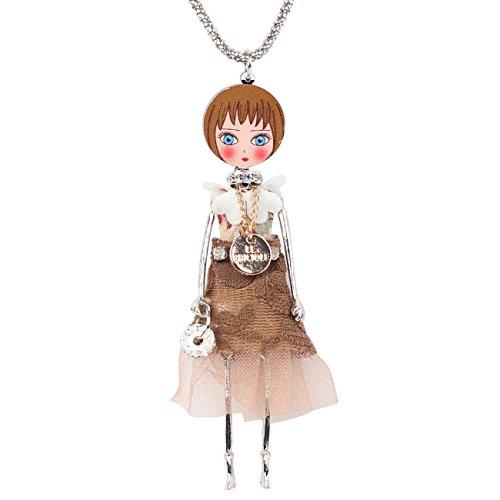 Collana Bambolina con vestito color Cipria