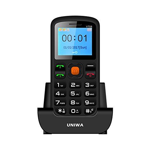UNIWA V708 Teléfonos moviles con Teclas Grandes para Mayores con SOS Botones