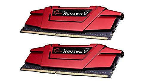 G. Skill Ripjaws V Series F4–3200C14d-32gvr 32GB DDR43200MHz CL141,35V Arbeitsspeicher-Kit–Blazing Red Rot