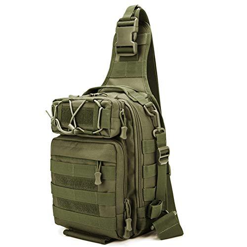 Angeln Umhängetaschen Taktische Brusttasche Schulter Umhängetasche wasserdicht Tarnung Sportrucksack Single Strap Militärrucksäcke zum Wandern