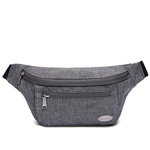 Entchin Fanny Pack for Hiking,Running and Travel (Gray)