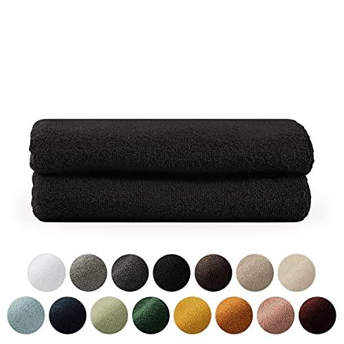 Blumtal Set de 2 Toallas de Manos (50x100cm) - Toallas Suaves y Absorebentes, 100% algodón, Certificado Oeko-Tex 100, Negro
