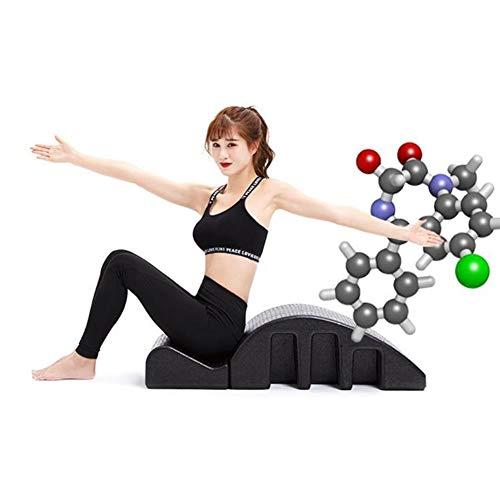 Bbhhyy Corrector De Columna Vertebral Barril- Pilates Colector De Columna Vertebral - Equipo De Yoga Alivio del Dolor De Espalda - Curva Posterior - Diseño Desmontable - Entrenamiento De Resistencia