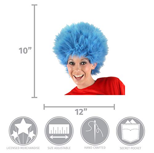 Elope Dr Seuss Thing 1 Thing 2 Blue Fuzzy Wig For Women /& Men