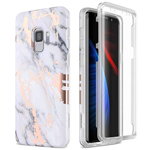 commercial SURITCH Galaxy S9 case, [Built-in Screen Protector] Whole body protection Impact resistance, durability … samsung s9 case