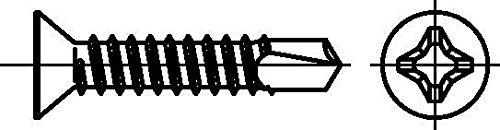 Dresselhaus 0/6064/001/5,5/38,0/ /01 Bohrschrauben mit Senkkopf-O-H, 5,5 x 38, galv. verzinkt, 500 Stück