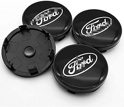 4 Piezas Coche Centro De Rueda Tapas centrales para Ford Mustang Explorer Fiesta Focus Kuga 60mm 56mm, Rueda Emblema Logo Insignia Llantas centrales Emblema Accesorios