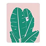 Custom Original Nature Series Mouse Pad (Banana Leaf and Kitty)
