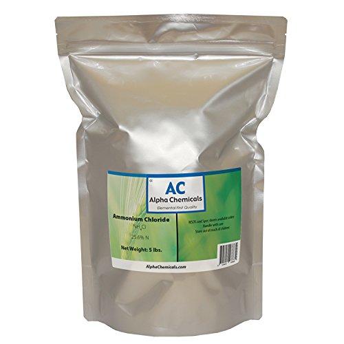 Ammonium Chloride - NH4Cl - 5 Pounds