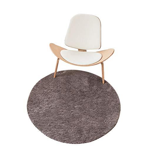 CMZ Dicker und samtiger runder Teppich Computerstuhl Drehstuhl hängender Korb Bodenmatte Wohnzimmer Schlafzimmer Arbeitszimmer Teppich maschinenwaschbarer Teppich