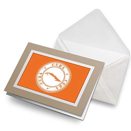 Awesome Greeting Cards - Tarjeta de felicitación de cumpleaños para niños y niñas, diseño de mapa cubano, color blanco