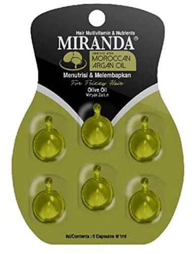MIRANDA Hair Vitamin Oil ミランダ ヘアビタミン モロッカン アルガンオイル 6粒入りシート (ダークグリーン)