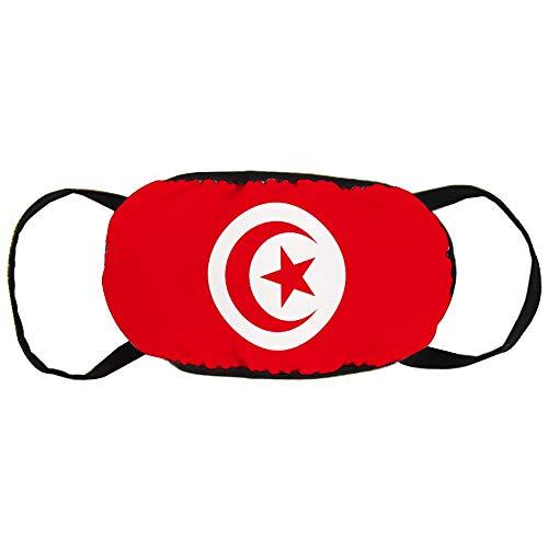 DKISEE Warm Comfortabel Katoen Gezichtsmasker Tunesië Vlag Anti-Stof Mond Masker Herbruikbaar Outdoor Beschermend Masker voor Fietsen Camping Reizen 9.0 x 4.7 inch