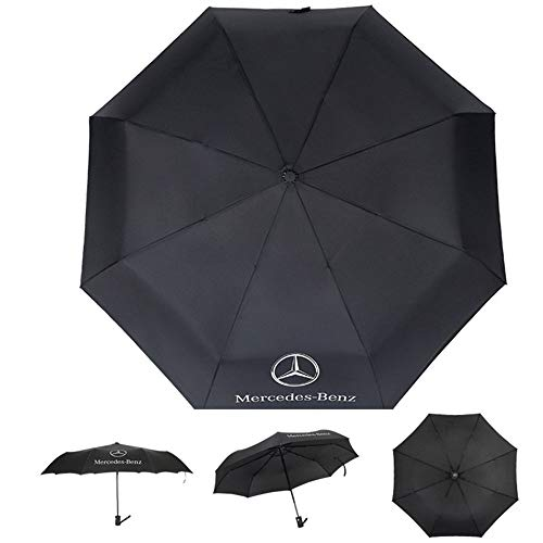 AUTO Open Large Folding Umbrella Windproof Sunshade with Car Logo For Mercedes-Benz