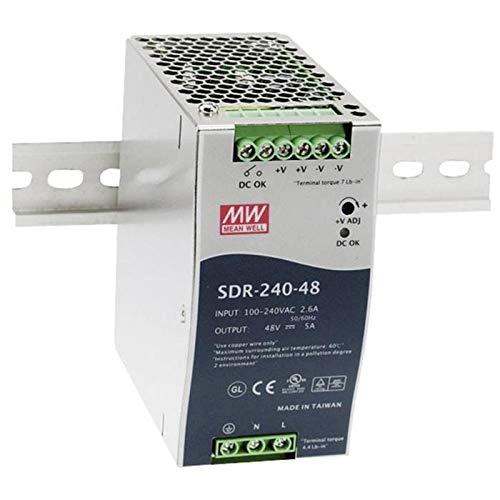 MeanWell SDR-240-24 240W 24V 10A Alimentación de Din Rail DIN-RAIL