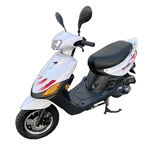 """X-PRO X22 50cc Moped Scooter Street Scooter Gas Moped 50cc Adult Scooter Bike with 10"""" Aluminum Wheels! (White)"""