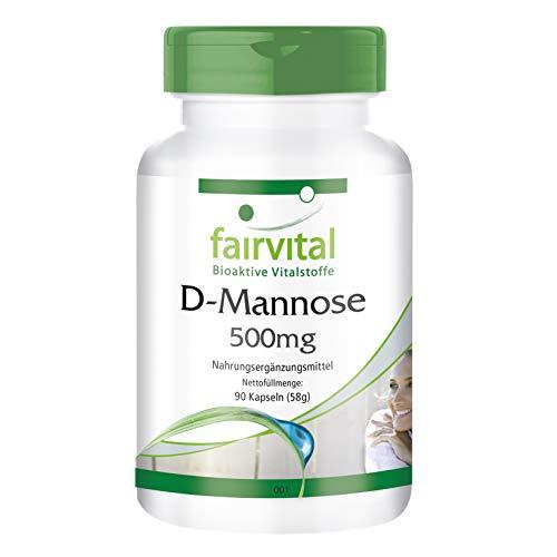 D-Manosa 500mg - Monosacárido natural - Dosis elevada - 90