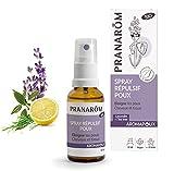Pranarôm Spray Répulsif Poux prévient l'apparition des poux Cheveux et textiles aux Huiles essentielles Bio 30 ml