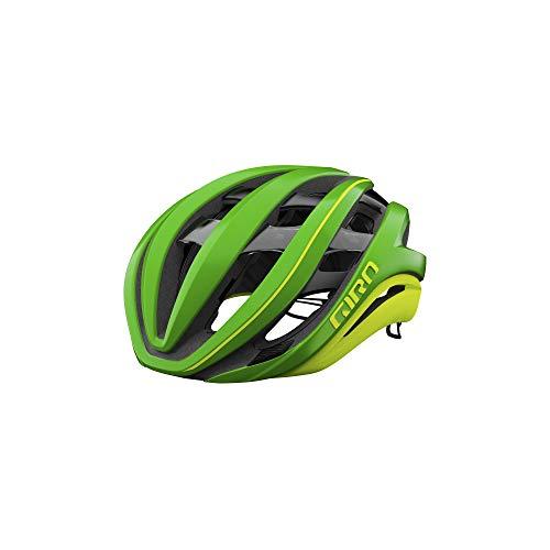 Giro Aether Spherical Adult Road Bike Helmet - Matte Ano Green/Highlight Yellow (2021) - Large (59-63 cm)
