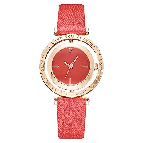 Msltely Relojes de Lujo Relojes de Oro de Cuero de Oro Relojes de Pulsera Dial de Color Dial de Color Mujeres Pulsera Reloj Reloj Hembra 4061 Red