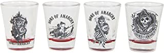 Sons of Anarchy 4pc Red Bottom Shot Glass Set