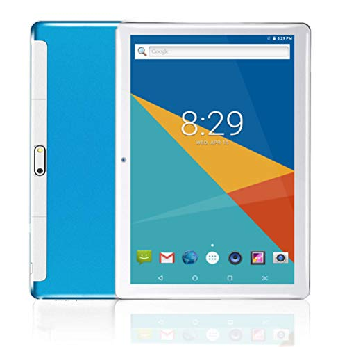 MoZhu Android Tablet 10 Inch, Tablets PC 10.1,HD,3G, WiFi, GPS, Octa Core, 64GB ROM,4GB RAM, Dual Sim Card, New, (Blue)