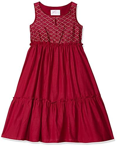 Max Girl's Cotton A-Line Dress