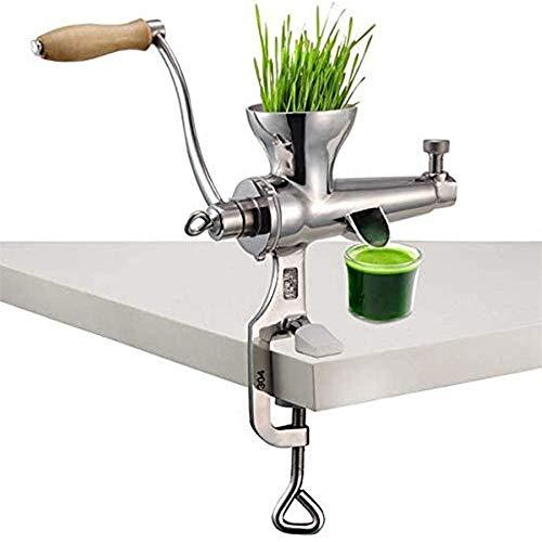 YUSDP Manueller Weizengras-Entsafter - Tragbarer Obst-Gemüse-Extraktor aus Edelstahl zum Entsaften von Weizengras-Sellerie-Grünkohl-Spinat-Petersilie-Apfeltrauben