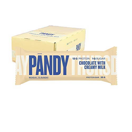 Pandy Chocolate Creamy Milk Protein Bar 35g (Pack of 18) - Incredibly Tasty High Protein Bar (12g)