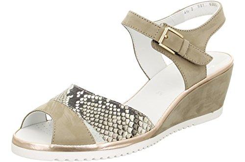 ARA vrouwen wig sandalen 12-37138-06 Taupe Beige
