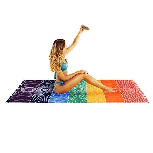 Iris Totem Yoga estera Mandala Toalla Playa patrón