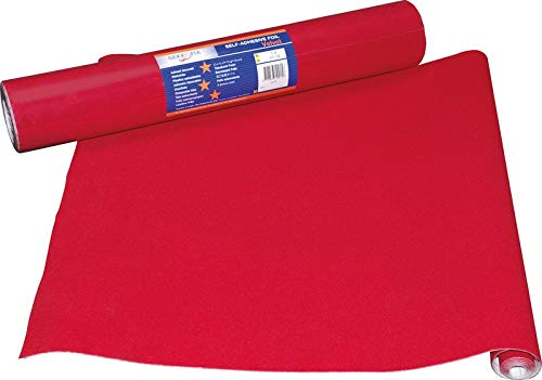 Astur Dintex - Adhesivo terciopelo rojo 45cmx5m