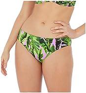 Classic Bikini Bottom, Sits On The Hips, Tropical Camouflage Print, Stretch, Good Bottom Coverage