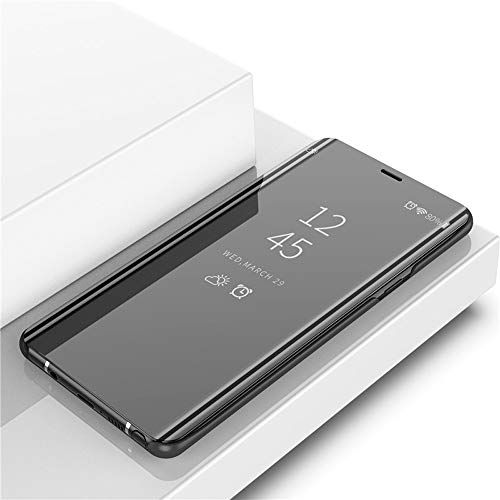 Funda para Samsung Galaxy S7 Edge, Galaxy S8 S10, funda de móvil de poliuretano, con función atril, Smart Clear View, funda con función atril para Samsung A51/S7/S7 Edge/S8/S10