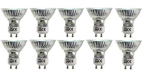 BRILLIANT Halogen Strahler, 10 x 42 Watt, GU10, warm-weiß, Lampe, Leuchtmittel, Haushaltspack
