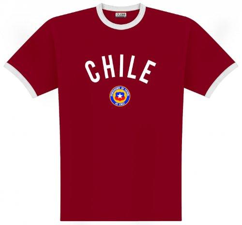 World of Football Ringer T-Shirt Chile Logo - XL