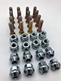16 Wheel Studs by R.A.D. W/Premium Chrome Plated OEM Style Lug Nuts for Honda ATV TRX 400 450r 250x FourTrax, Rubicon, Recon, Rancher, Rincon,