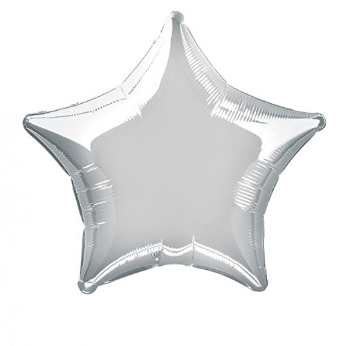 ballon boutique Villingen Folienballon Stern ca. 45cm Silber