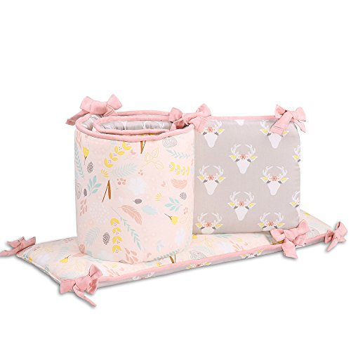 Woodland Whimsy Floral Crib Bumper by The Peanut Shell