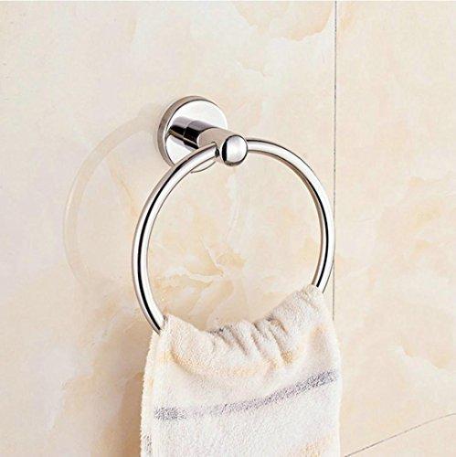 Xshuai de cuisine de salle de bain Anneau de serviette Cintre Rack support mural en acier inoxydable, Chrome poli Serviette Anneau