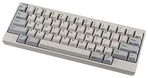 HHKB Classic Tastatur PD-KB401W, Gedruckte Tastenkappen, Professionelle Mechanische 60prozent Tastatur, USB-C (Weiß)