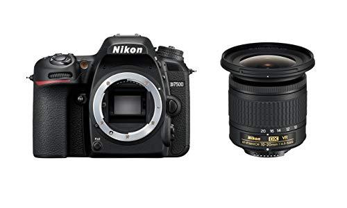 Nikon D7500 KIT AF-P DX 10-20 mm 1:4,5-5,6 G VR (20,9MP, Expeed 5 Prozessor, 4k UHD Video, ohne optischen Tiefpassfilter)