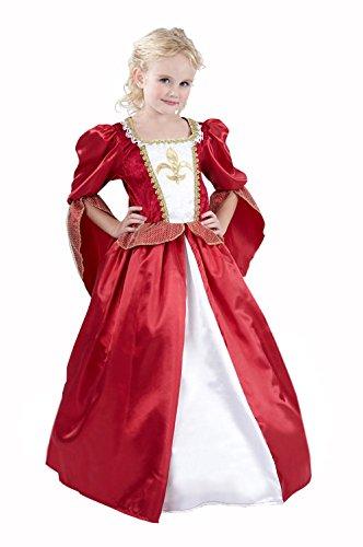 Vegaoo - Costume Principessa Medievale per Bambina - L 10-12 Anni (130-140 cm) Costume Principessa Medievale per Bambina L 10-12 Anni (130-140 cm)