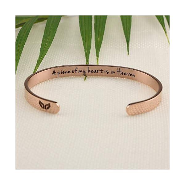 Joycuff Inspirational Best Friend Bracelet Friendship Gifts for Her Girl Women Daughter Jewelry BFF Cuff Rose Gold Bracelets