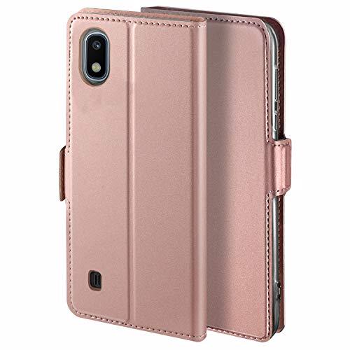 YATWIN Handyhülle für Samsung Galaxy A10 Hülle Premium Leder Flip Hülle Schutzhülle für Samsung Galaxy A10 Handytasche, Rose Gold