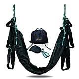 YOGA SWING PRO Premium Aerial Hammock Anti Gravity Yoga Kit- Acrobat Flying Sling Set for Indoor and Outdoor Inversion Therapy