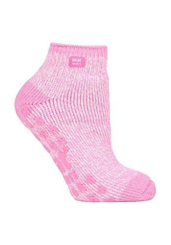 HEAT HOLDERS - Damen Kurz Unsichtbar Abs Thermo Sneaker Socken 37-42 eur (Light Pink Cream)